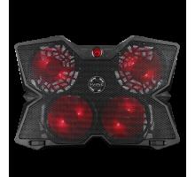 Охлаждающая подставка для ноутбука MARVO FN-38 RD, 400x275x30 мм, чёрно-красный