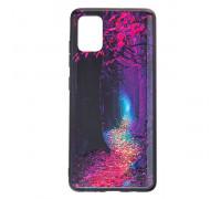 Чехол - накладка для Galaxy A415 A41 (2020) - пластиковый матовый  - Сказочный лес ( цвет разноцветн