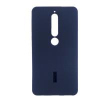 Чехол-накладка Nokia 6 2018, cиликоновый, blue, CHERRY CASE