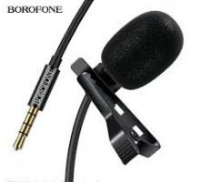 Микрофон BOROFONE BD102 черный петличка