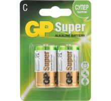 Батарейки GP LR14 Super, BL2, 2 шт в блистере