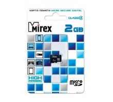 Карта памяти Mirex microSD 2 Gb class 4
