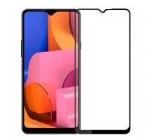 Защитное стекло 3D Samsung A20s, black, в тех.упаковке