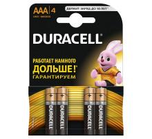 Батарейки Duracell LR03 AAA BL4, 4 шт в блистере