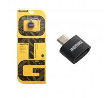 Адаптер OTG microUSB - USB черный Remax (MR)
