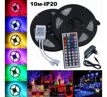 LED лента RGB набор Огонек OG-LDL15 (2*10м,IP20,блок,пульт)