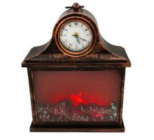 Декоративный камин с часами LED SP-12