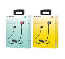 Гарнитура беспроводная Borofone BE18, Bluetooth, красная, спортивная, стерео