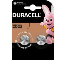 Батарейки Duracell CR2025, BL2, 2 шт в блистере