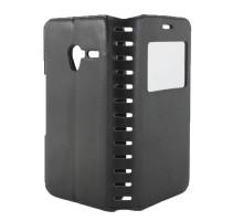 Чехол-книжка Alcatel Pixi 3/4.5, black, NEW CASE