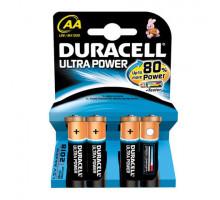 Батарейки Duracell LR06 AA UltraPower BL4, 4 шт в блистере