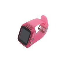 Часы детские Z6, с GPS трекером, розовые с блёстками