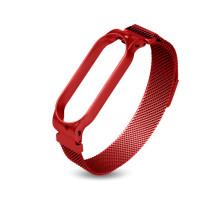 Ремешок MI Band 3/4 milanes с магнитом, красный