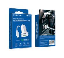 АЗУ + кабель MicroUSB, Quick Charge 3.0, 3A - 1USB, BOROFONE BZ12A, white