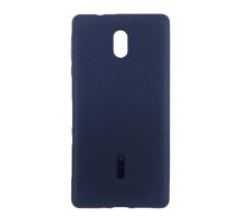 Чехол-накладка Nokia 3, cиликоновый, blue, CHERRY CASE