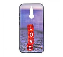 Чехол - накладка 'пластиковый матовый  - Love' для Xiaomi Redmi 8 (цвет серый, в пакете)
