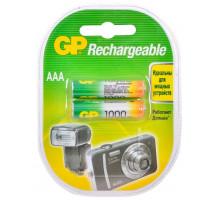 Аккумулятор GP R03 AAA 1000mAh Ni-Mh, BL2, 2шт в блистере, пластик