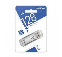 Флэш-карта Smartbuy 128 Gb USB3.0, V-Cut, серебро (SB128GBVC-S3)