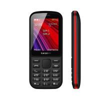 Мобильный телефон teXet TM-208 цвет черный-красный