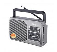 Радиоприемник Fepe FP-1371, серебристый, AM/FM/SW/AUX, Ант., AC/DC,2*R20