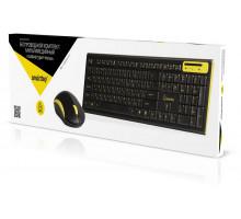 Комплект беспроводной клавиатура + мышь Smartbuy 23350AG (SBC-23350AG-KY) черно-желтый