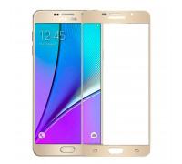 Защитное стекло 2,5D Samsung A510/A5 2016, gold