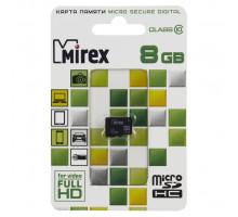 Карта памяти Mirex microSDHC 8 Gb class 10
