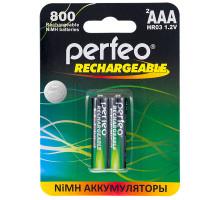 Аккумулятор Perfeo R03 AA 800mAh, BL2, 2 шт в блистере
