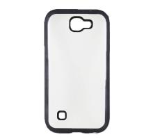 Чехол-накладка LG K3 2017, силиконовый с черной окантовкой
