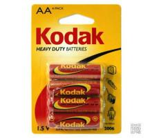 Батарейки Kodak R06 AA Heavy Duty BL4, 4 шт в блистере