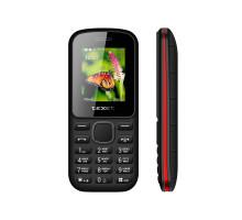 Мобильный телефон teXet TM-130 цвет черный-красный