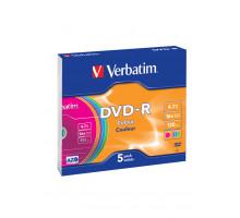 DVD-R Verbatim 4,7 GB 16x SL/5 Color