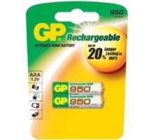 Аккумулятор GP R03 AAA 950mAh Ni-Mh, BL2, 2 шт в блистере пластик