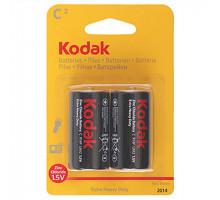 Батарейки Kodak R14 2BL, 2 шт в блистере
