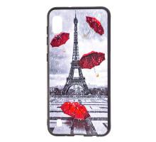 Чехол - накладка для Xiaomi Redmi 7 - пластиковый матовый  - Дождь в Париже (цвет серый, в пакете)