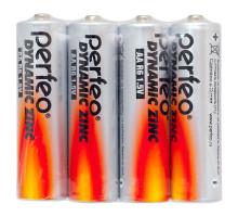 Батарейки Perfeo R06 4SH Dynamic Zinc 4SR, 4 шт в термопленке