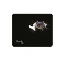 Коврик PM-H15 mouse Dialog - черный с рисунком мышки