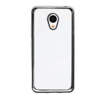 Чехол-накладка Meizu M5 Note, силиконовый с черной окантовкой