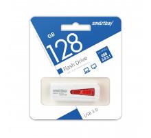 Флэш-карта Smartbuy 128 Gb USB3.0, Iron, бело-красная (SB128GBIR-K3)