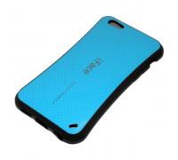 Чехол силиконовый iFace карбон Apple i5/5S синий