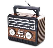 Радиоприемник Fepe FP-1360U, AM/FM/USB/SD/TF, Ант., фонарик, AC/DC, аккумулятор,2*R20