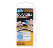 Батарейки Duracell ZA675 (PR41) 1.4V, для слуховых аппаратов, BL6, 6 шт в блистере
