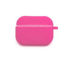 Чехол AirPods Pro Silicone Case, с карабином, кислотно-розовый