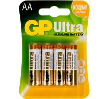 Батарейки GP LR06 AA Ultra Alkaline 15AU-CR4, BL4, 4 шт в блистере