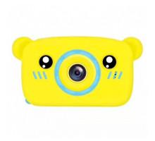 Фотоаппарат детский с силиконовым чехлом мишка, blue+yellow
