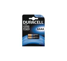 Батарейки Duracell LR61 AAAA BL2, 2 шт в блистере MN2500