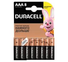 Батарейки Duracell LR03 AAA BL8, 8 шт в блистере